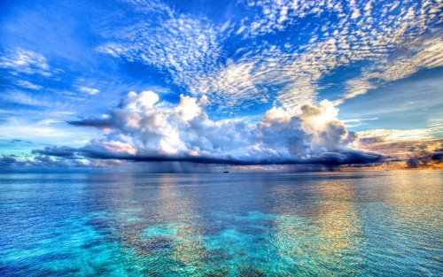 sunlight landscape sea nature reflection sky rain clouds beach morning horizon atmosphere dusk cloud
